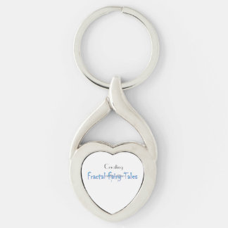 Fractal Fairy Tales Twisted Heart Metal Keychain