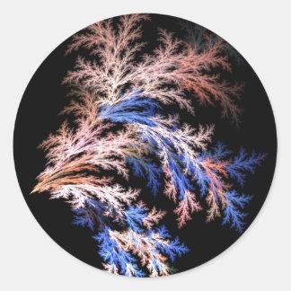 Fractal fern classic round sticker