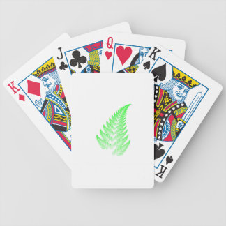 Fractal fern leaf bicycle playing cards