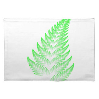 Fractal fern leaf placemat