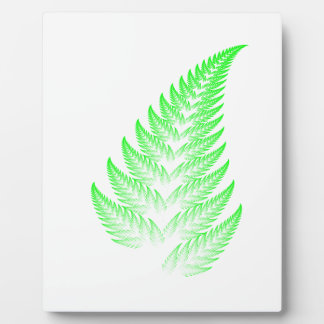Fractal fern leaf plaque