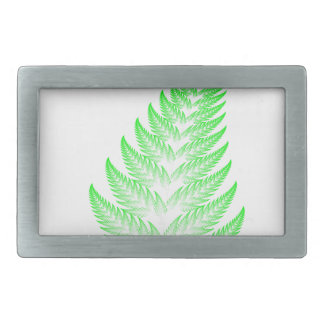 Fractal fern leaf rectangular belt buckle