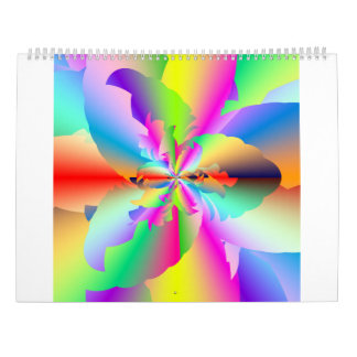 Fractal Fire Flower Flameout 2017 Calendar
