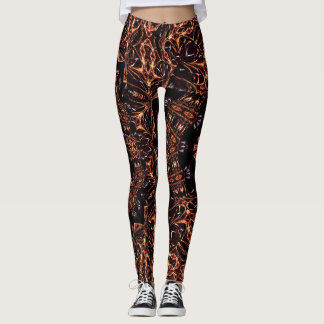 Fractal Fire Mood Custom Leggings