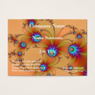 Fractal Fireworks Chubby Business Card