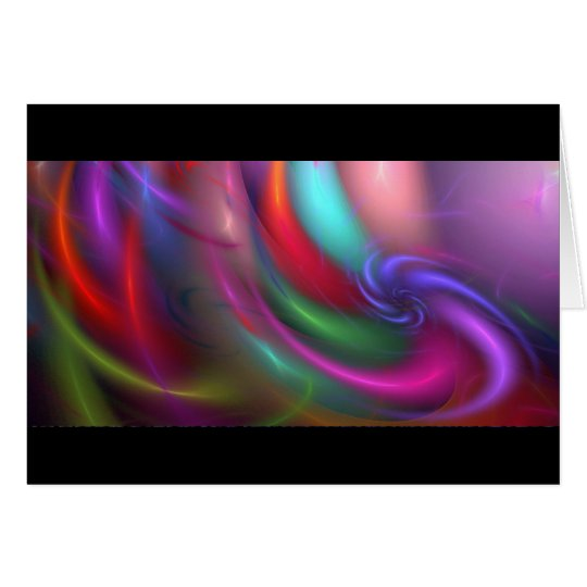 Fractal Fireworks Greeting and Note Card