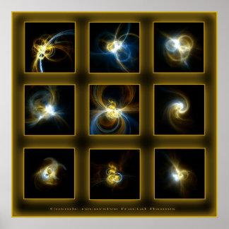 Fractal Flames Comp. - beige Poster