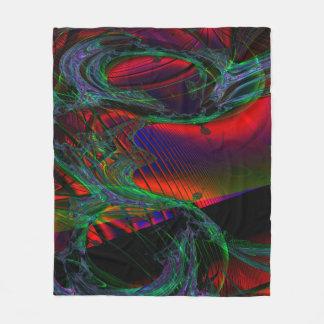 Fractal Fleece Blanket, Andromeda