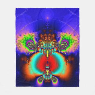 Fractal Fleece Blanket, Buddha