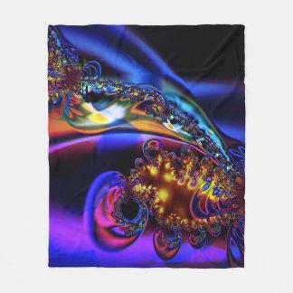 Fractal Fleece Blanket, Geyser