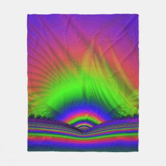 Fractal Fleece Blanket, Horizons