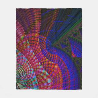 Fractal Fleece Blanket, Iris