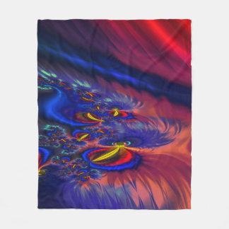 Fractal Fleece Blanket, Ponds