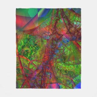 Fractal Fleece Blanket, Synapse