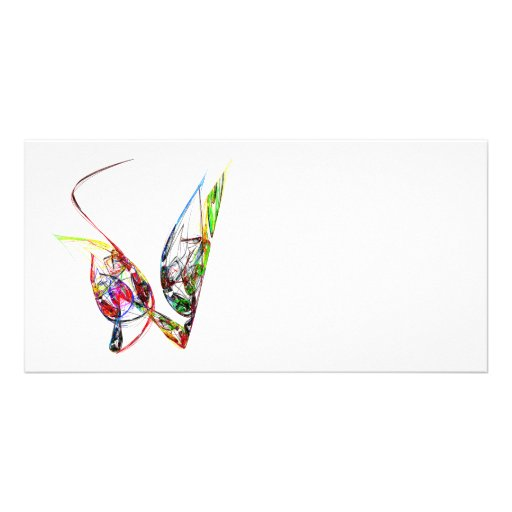 Fractal - Floating Butterfly Picture Card