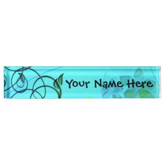 Fractal Flower Elegance Nameplate