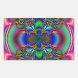 Fractal Flower In Multi Colors Sticker