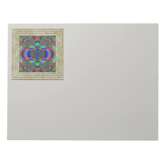 Fractal Flower In Multi Colours Notepad