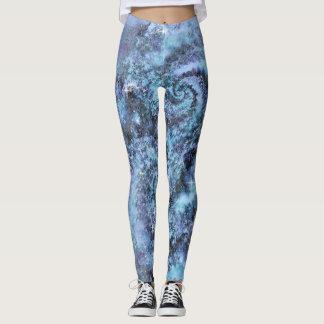 Fractal Galaxy Pastel Goth Leggings