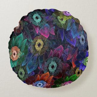 Fractal Gardening Round Pillow