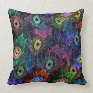 Fractal Gardening Throw Pillow