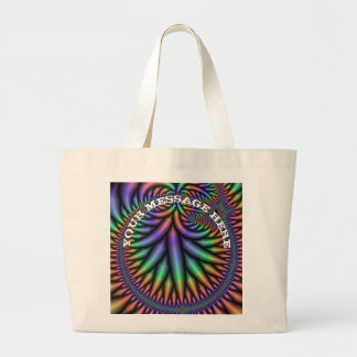 Fractal-generated computer large tote bag
