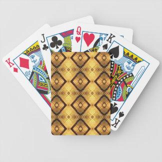 Fractal Geometric Deep Yellow Brown Pattern Poker Deck