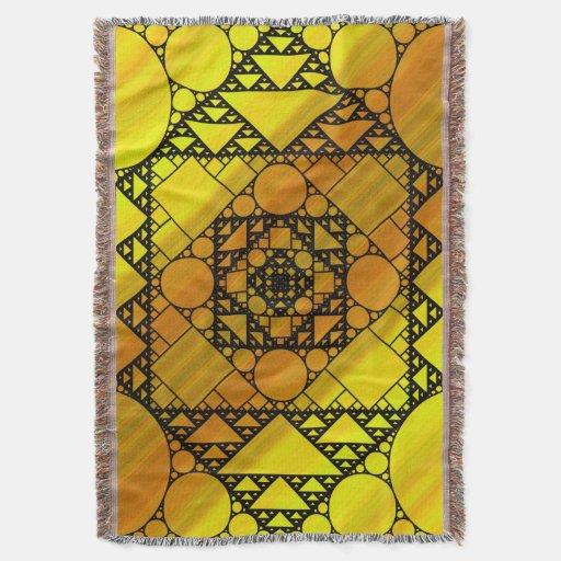 Fractal Geometry Throw Blanket