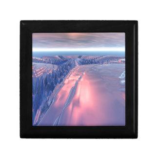 Fractal Glacier Landscape Jewelry Boxes