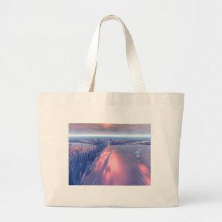 Fractal Glacier Landscape Large Tote Bag