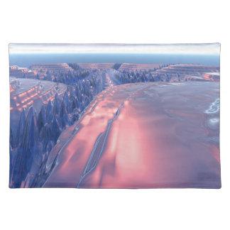 Fractal Glacier Landscape Placemat