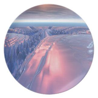 Fractal Glacier Landscape Plate