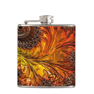 Fractal Glass 8 Wrapped Flask