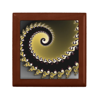 Fractal. Gold, silver, black. Gift Box