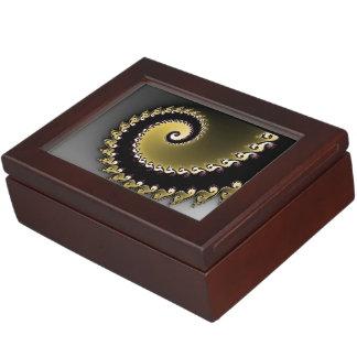 Fractal. Gold, silver, black. Memory Boxes