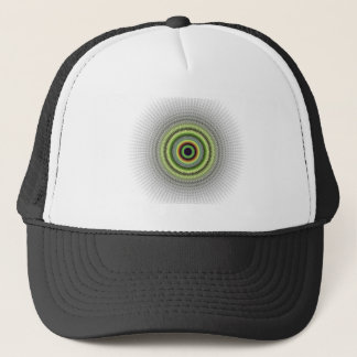 Fractal Gray Misty Owl Eye Trucker Hat