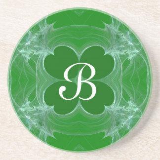 Fractal Green Clover coaster