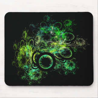 Fractal Green Mouse Pad