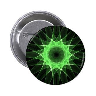 Fractal green star pin
