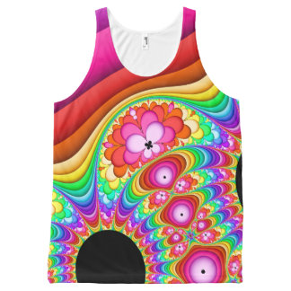 Fractal Groovy Trip All-Over-Print Tank Top