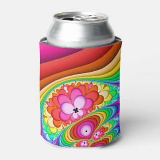 Fractal Groovy Trip Can Cooler