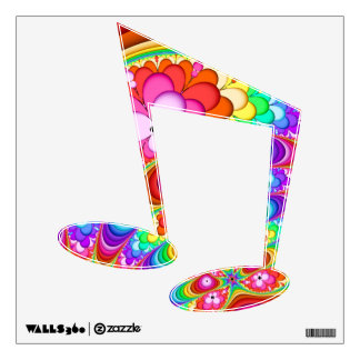 Fractal Groovy Trip Music Note Wall Decal