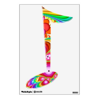Fractal Groovy Trip Musical Note Wall Decal