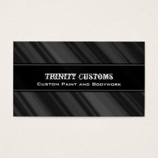 Fractal Grunge Business Card, Charcoal Business Card