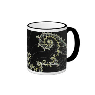 Fractal Heavens Bliss Ringer Mug