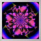 fractal in blacklight style  poster