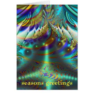 Fractal inner worlds seasons greetings card