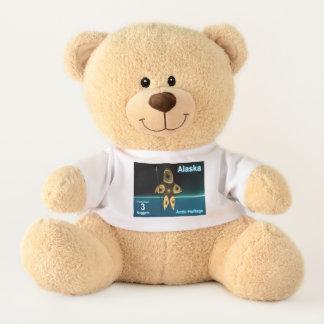 Fractal Inuit Hunter - Alaska Postage Teddy Bear
