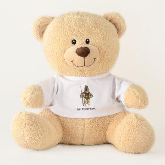 Fractal Inuit Hunter Teddy Bear