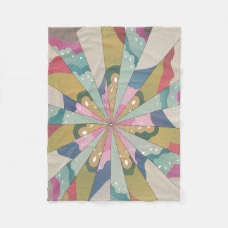 Fractal Kaleidoscope Fleece Blanket